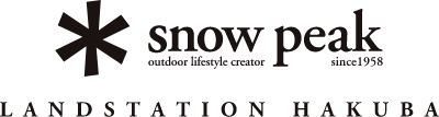 snow peak outdoor lifestyle creator since1958 LAND STATION HAKUBA