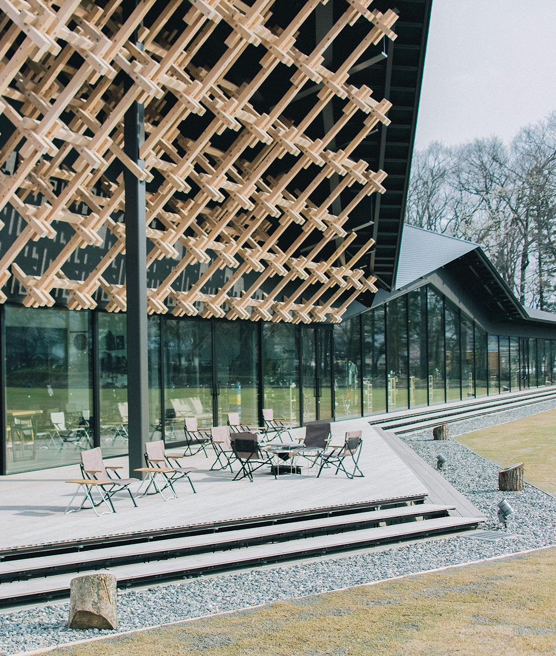 世界的な建築家、<br>隈研吾デザインの複合施設。