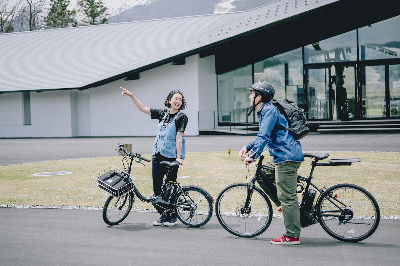 自転車で白馬村内を散策!